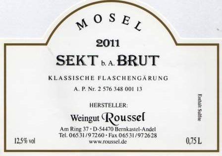 2011 Sekt b. A. Brut