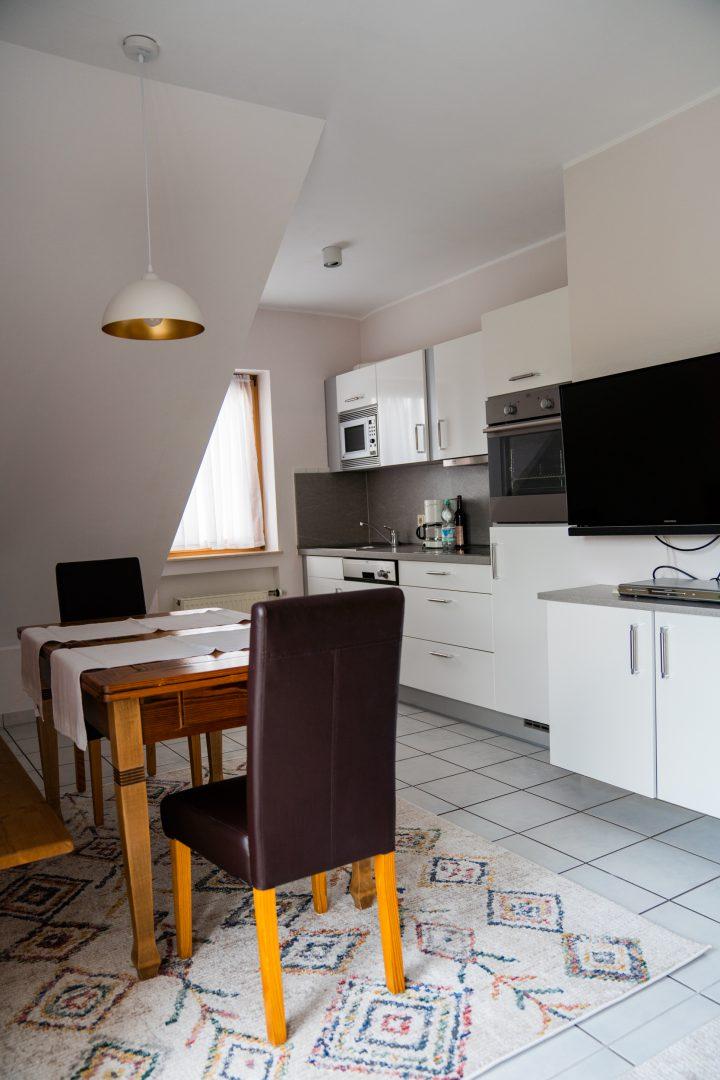 Esszimmer in Matheisbildchen, Ferienwohnung für 2 - 3 Personen mit zwei sep. Svhlafzimmer.