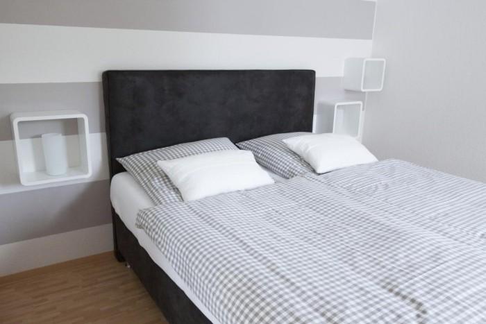 Schlafzimmer im Feriendomizil Roussel