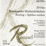 Etikett Bernkasteler Matheisbildchen Weingut Roussel