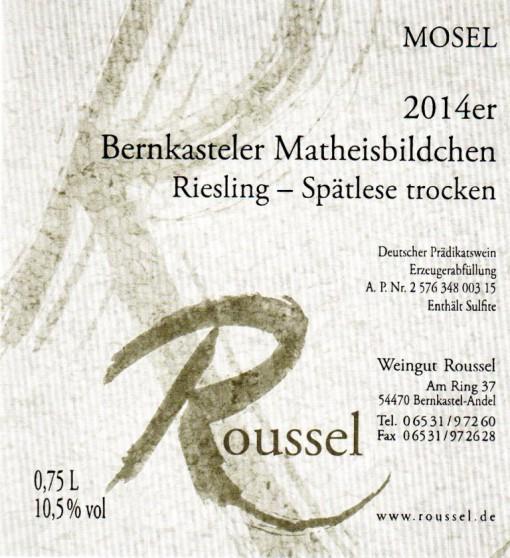 n-0 Bernkasteler Matheisbildchen Weingut Roussel