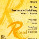 Bernkasteler Schlossberg 2015 Kerner Spätlese