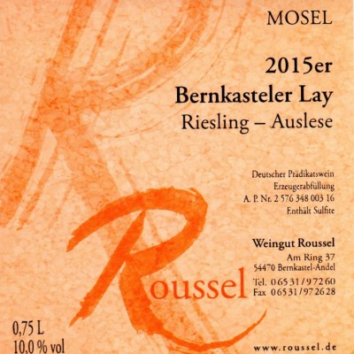Riesling Auslese Weingut Roussel