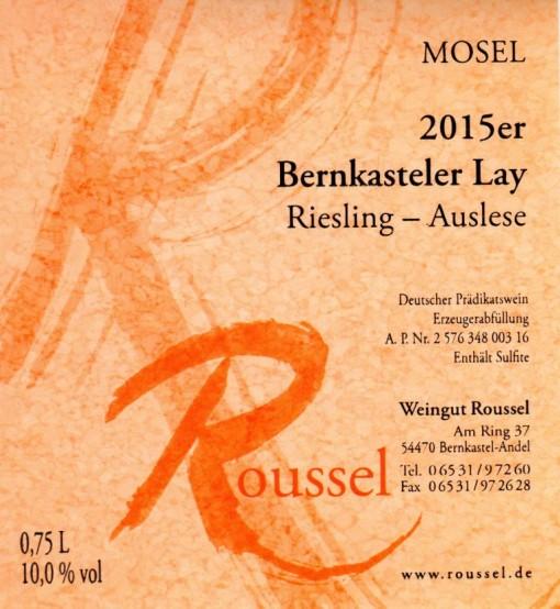 n-8 Bernkasteler Lay Auslese Weingut Roussel